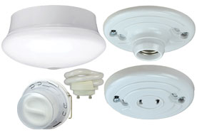 Compact Fluorescent, Keyless and Pullchain Lampholders